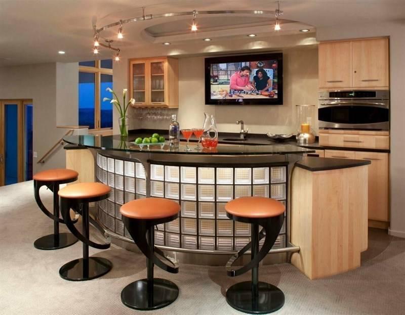 Дизайн кухни с барной стойкой: 75 современных вариантов интерьера