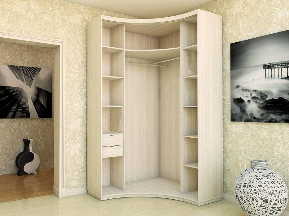 Угловой шкаф в спальню: разновидности, варианты дизайна