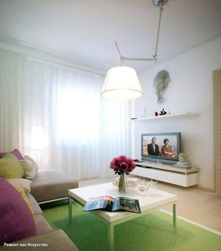 Дизайн однокомнатной квартиры 40 кв. м: 3 готовых проекта