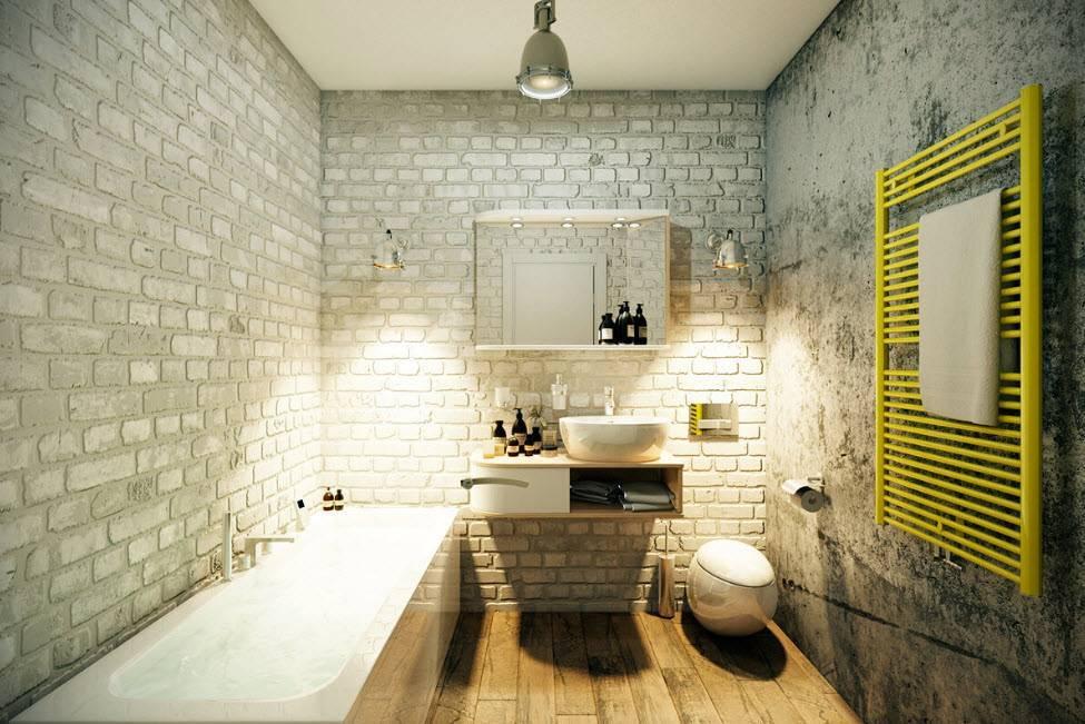 Ванная в стиле лофт – особенности дизайна и 30 фото
