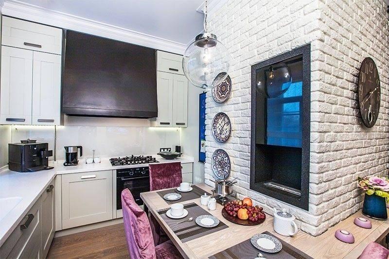 Обои под кирпич на кухне (40 фото): дизайн обоев кирпичиками, светлые и другие обои в виде кирпичной стены в интерьере кухни