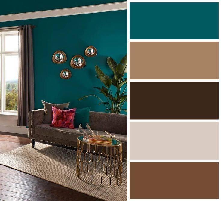 С каким цветом сочетается коричневый цвет в интерьере: комната в коричневых тонах и мебель - 41 фото