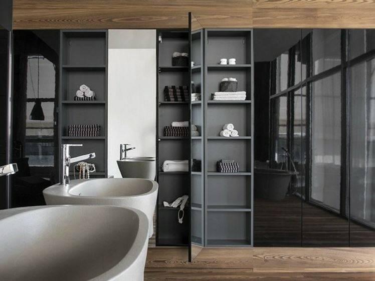 Встроенная мебель для ванной комнаты: фото и варианты дизайна.