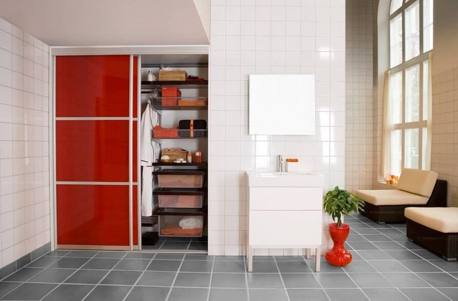 Встроенный шкаф в ванной комнате — виды, устройство, правила выбора - знать про все
