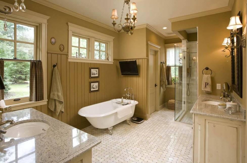 Дизайн ванной в частном доме — идеи для шикарного оформления дизайна ванных комнат (фото и видео)