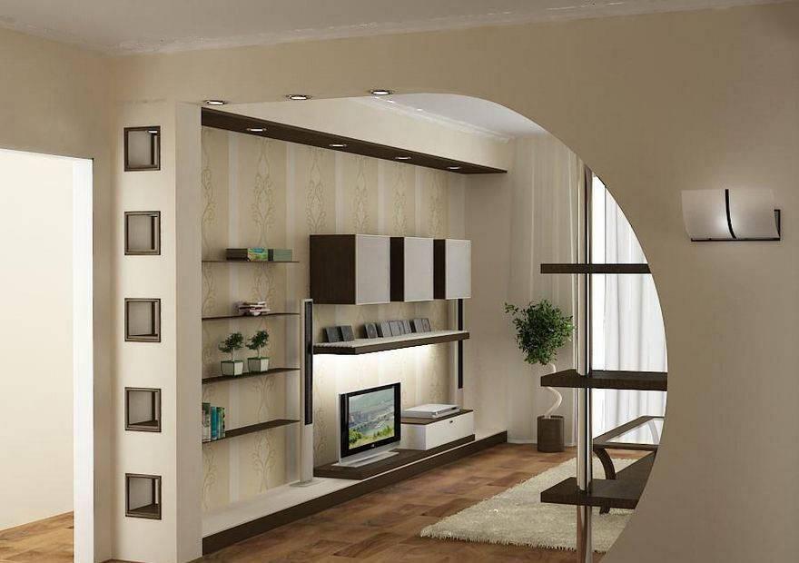 Варианты планировки гостиных комнат с перегородкой и без