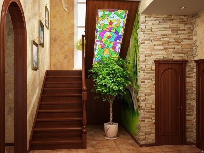 Дизайн коридора с лестницей в частном доме: дизайн прихожей, холла, пространство под лестницей