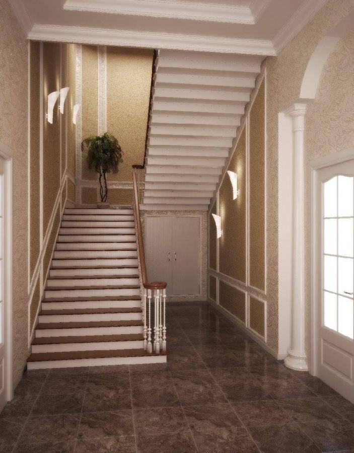 Дизайн коридора в частном доме с лестницей фото