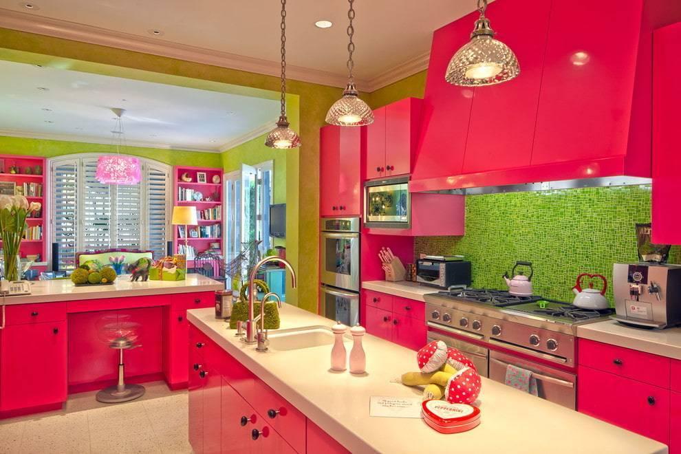 Красная кухня — особенности оформления кухни яркого цвета (50 фото)
