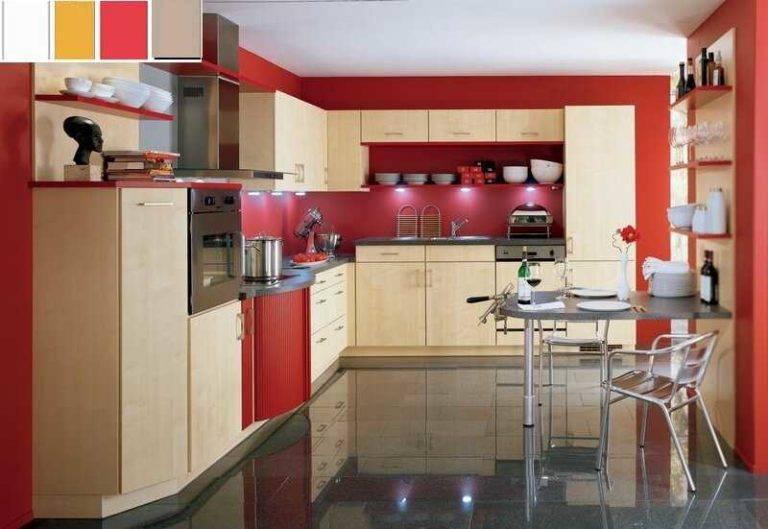 Красная кухня в интерьере +75 фото