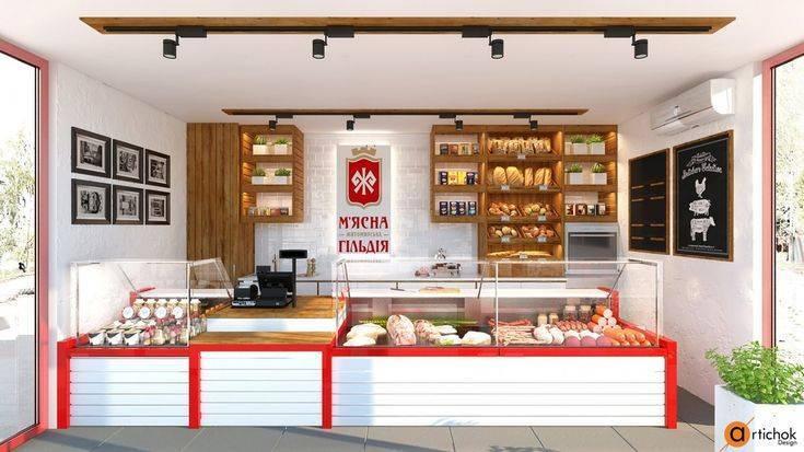 Дизайн магазина продуктов: фото примеры проектов - «нежилые помещения»