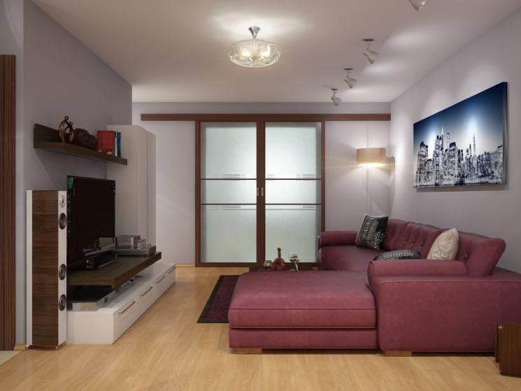 Дизайн спальни-гостиной площадью 16 кв. м