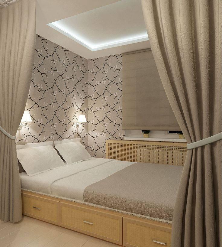 Дизайн узкой спальни: 100+ фото [интерьер 2019 года]