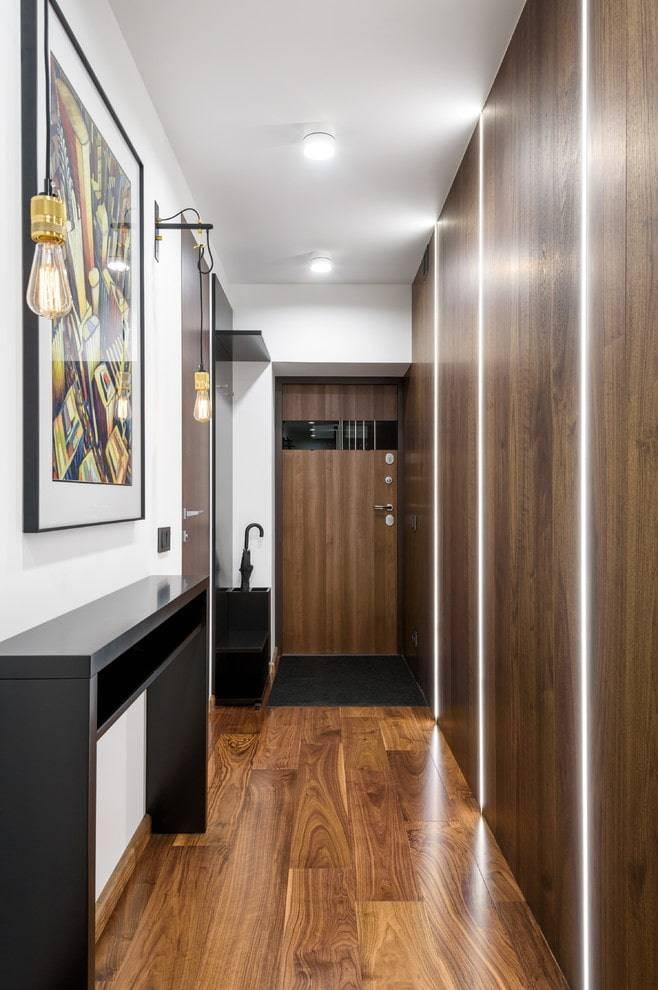 Шкаф в узкий коридор, особенности оформления небольшого пространства