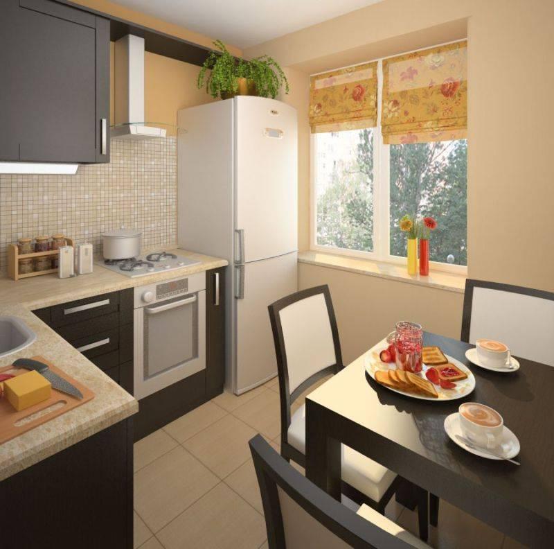 Как создать гармоничный дизайн кухни 6 кв м? (66 фото)