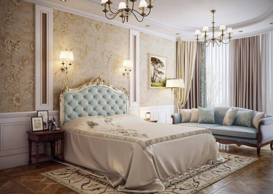 Спальня в классическом стиле: фото с идеями дизайна и оформления интерьера