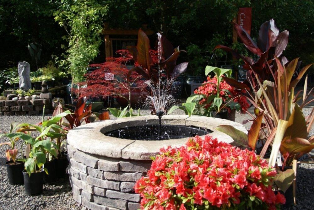 Декоративный фонтан для сада или дачи: как сделать своими руками, как декорировать, фото
