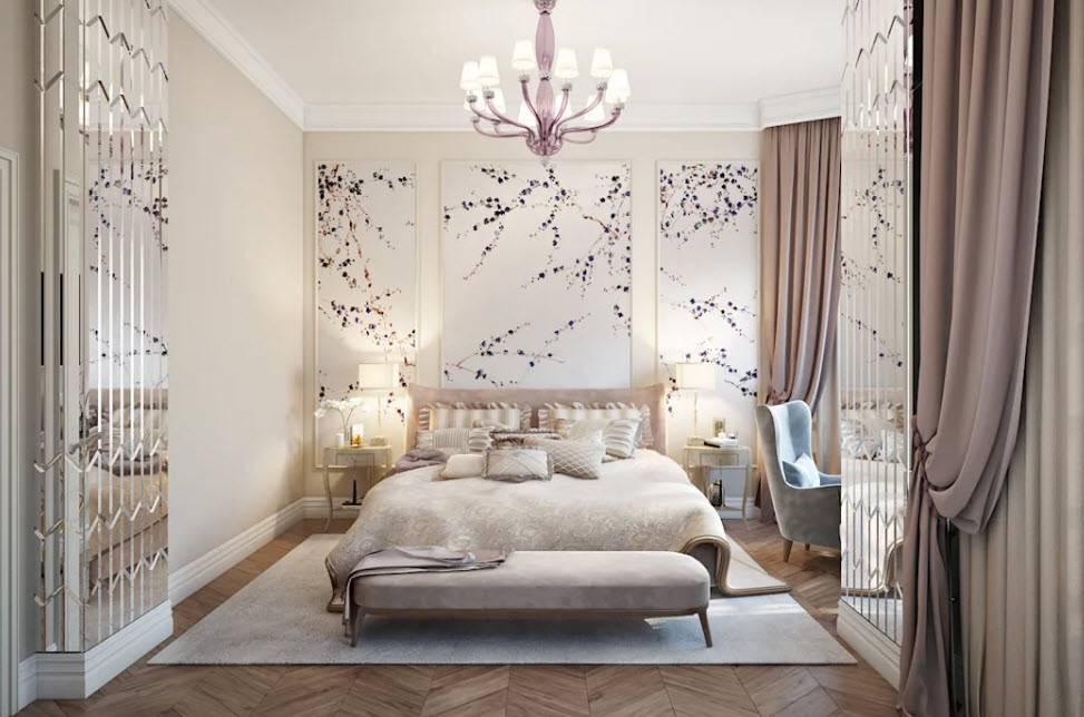 Дизайн спальни: фото 2020, современные идеи, обои двух цветов, фото идеальных сочетаний