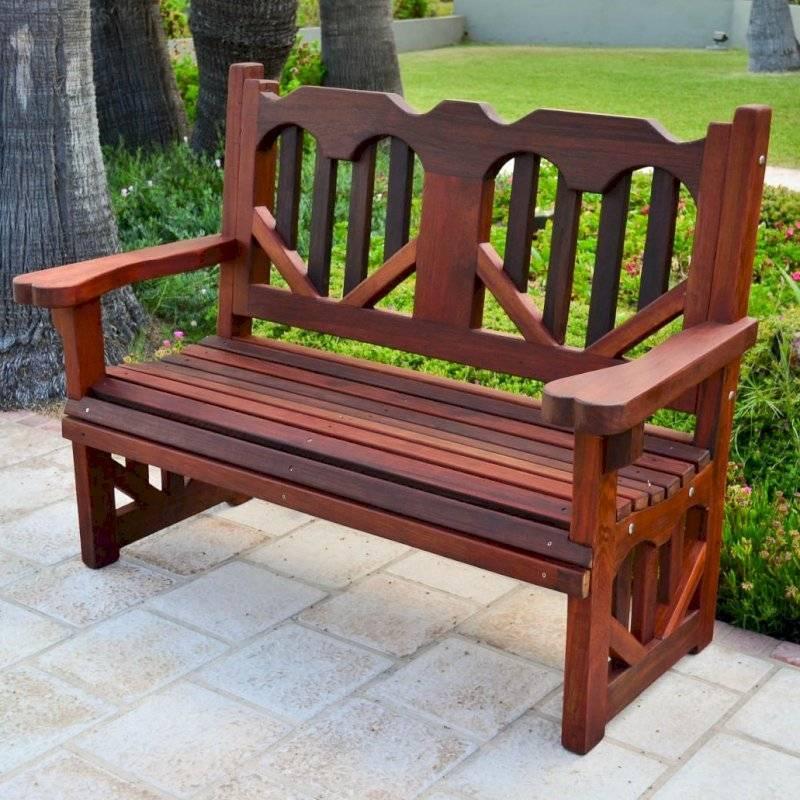 Садовая скамейка из дерева со спинкой своими руками: чертежи, размеры - строительство и ремонт