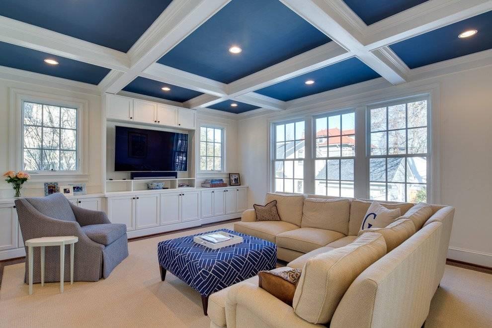 Освещение натяжного потолка в зале: лучшие варианты и советы по выбору