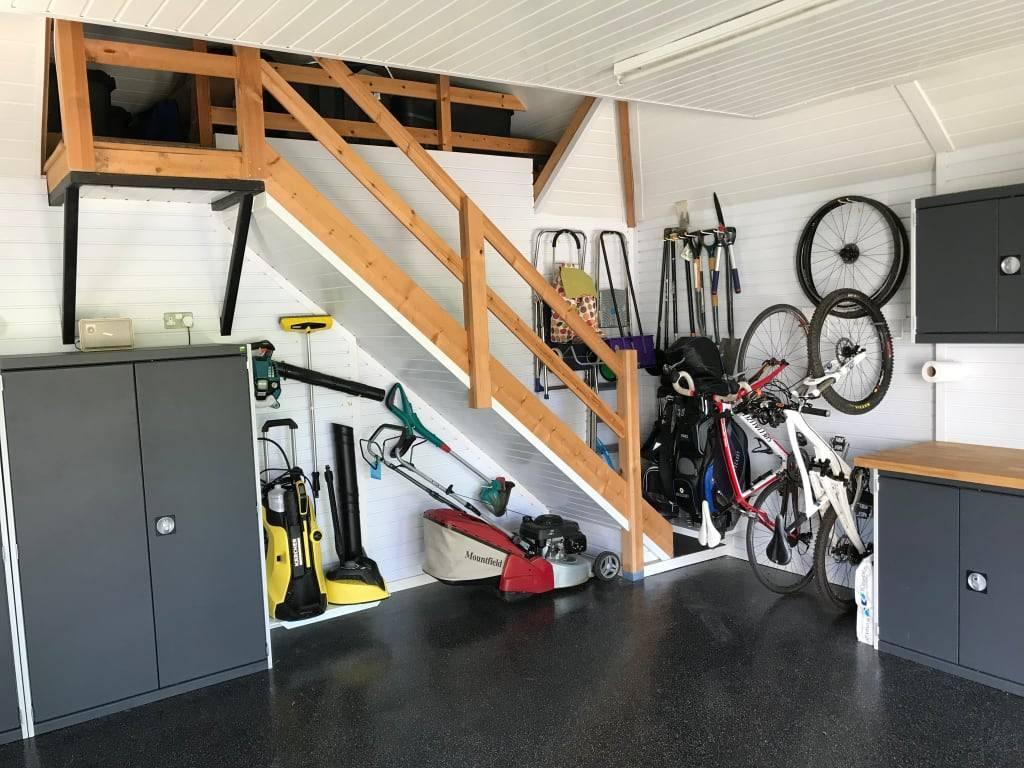Идеи дизайна гаража +75 фото интерьера