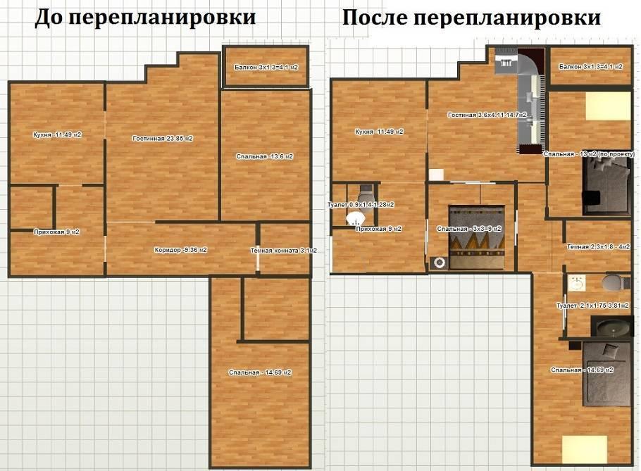 Особенности перепланировки 4-х комнатной хрущевки в 2020 году