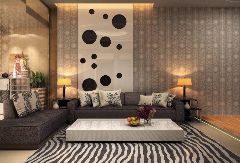Обои в гостиную 2021 - 47 фото креативных и модных идей