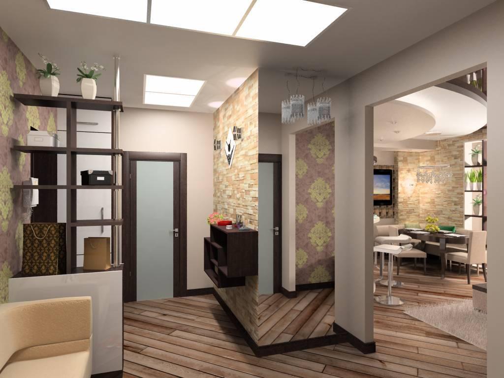 Интерьер и дизайн прихожей-гостиной в одной комнате