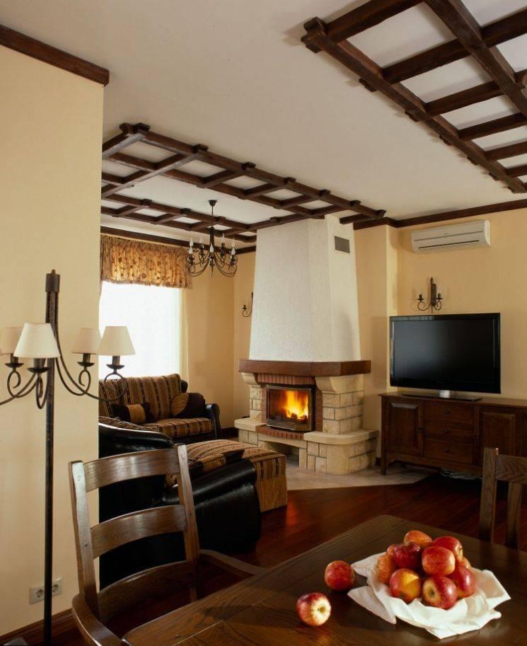 Стиль кантри в интерьере гостиной — варианты дизайна