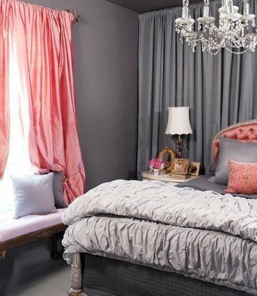 Серые шторы в спальне: варианты идеального сочетания серых штор в современной спальне (120 фото новинок)
