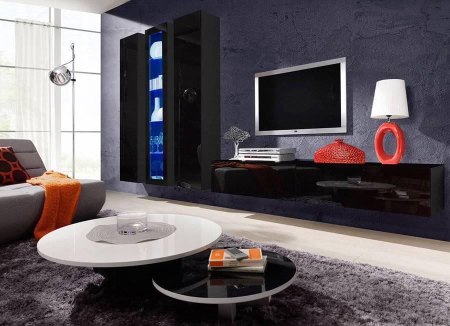 Глянцевая мебель – преимущества использования и оптимальные модульные системы (85 фото)
