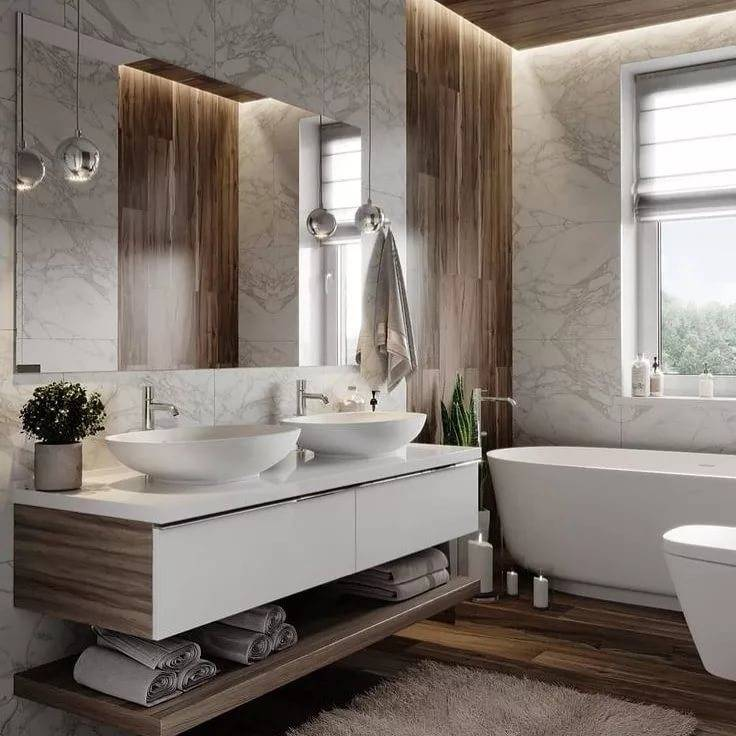 Дизайн ванной комнаты: фото 2020 – современные идеи