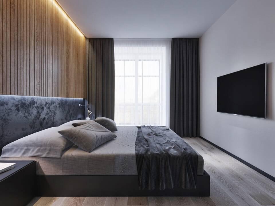 Спальня в стиле минимализм (51 фото) - идеи дизайна интерьера