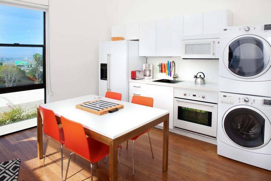 Встроенная стиральная машина на кухне — плюсы и минусы