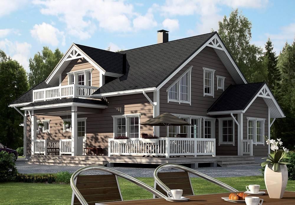 Фото двухэтажных домов с балконом