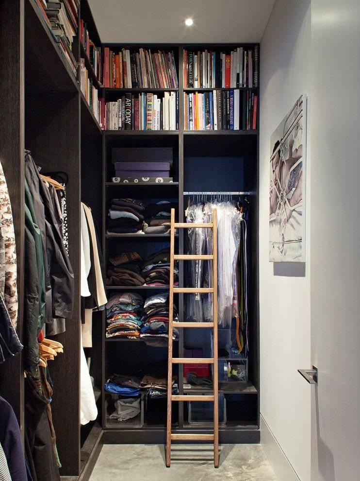 Гардеробная из кладовки: как сделать в хрущевке, фото в панельном доме, дизайн-проекты, лучшие идеи, как обустроить узкую гардеробную.