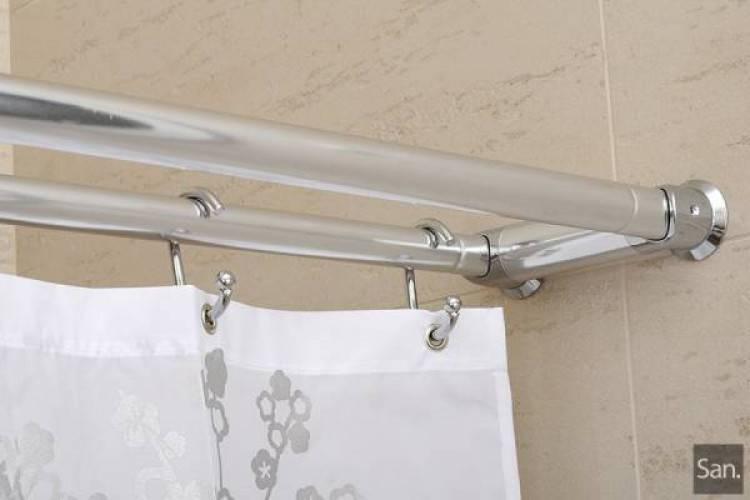 Карниз для ванной раздвижной - особенности и порядок установки