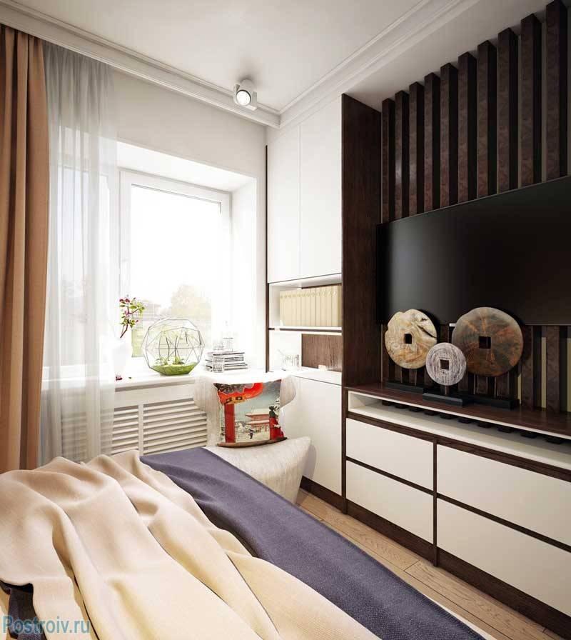 Дизайн маленькой спальной комнаты 6 кв м