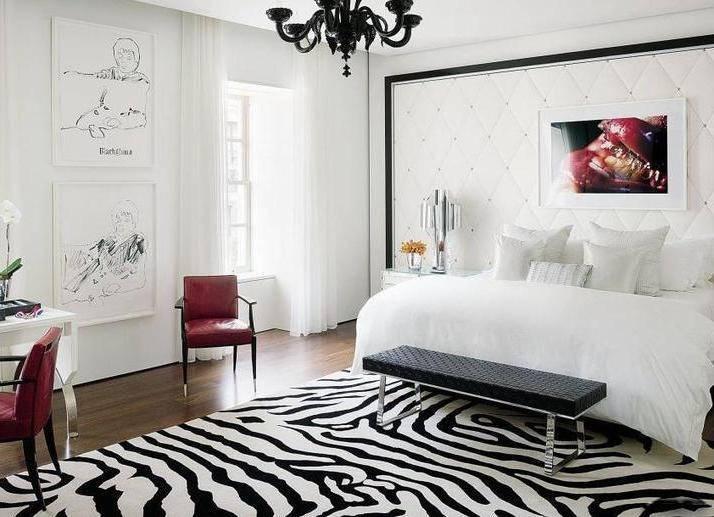 Черно-белая спальня - 125 фото лучших идей дизайна спальни