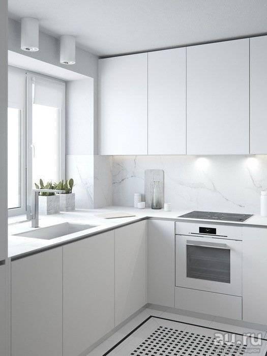 Белая кухня в интерьере: фото примеров оформления