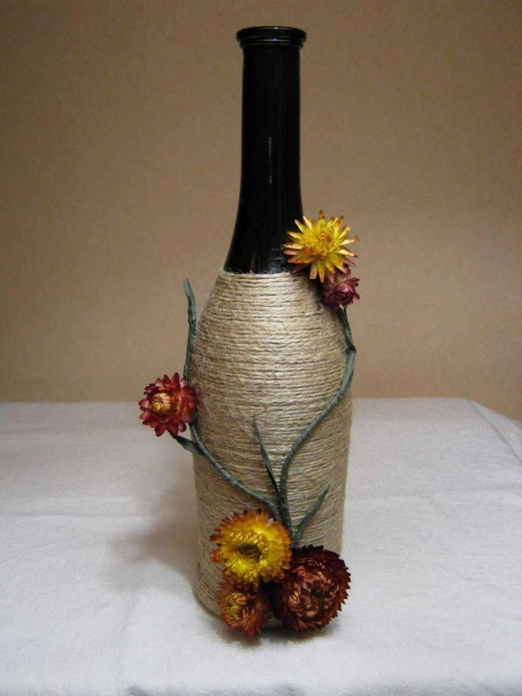 Декорирование бутылок своими руками (50 фото): оригинальные идеи украшения - всё для дома - медиаплатформа миртесен