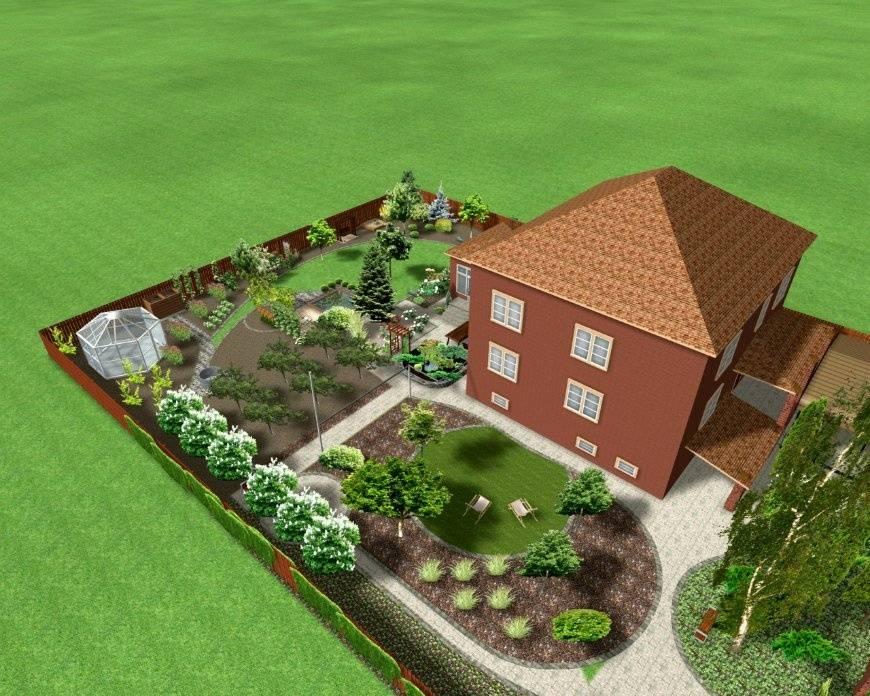 Ландшафтный дизайн 5 соток (52 фото): правила оформления участка с домом