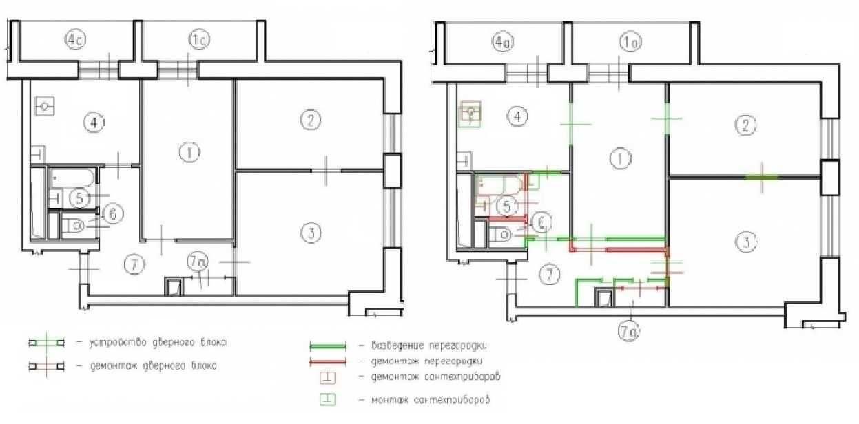 Перепланировка 3-комнатной квартиры – porusski.me