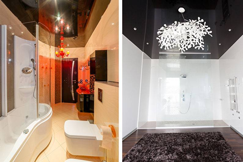 Потолок в кухне-гостиной (41 фото): интерьер совмещенной студии