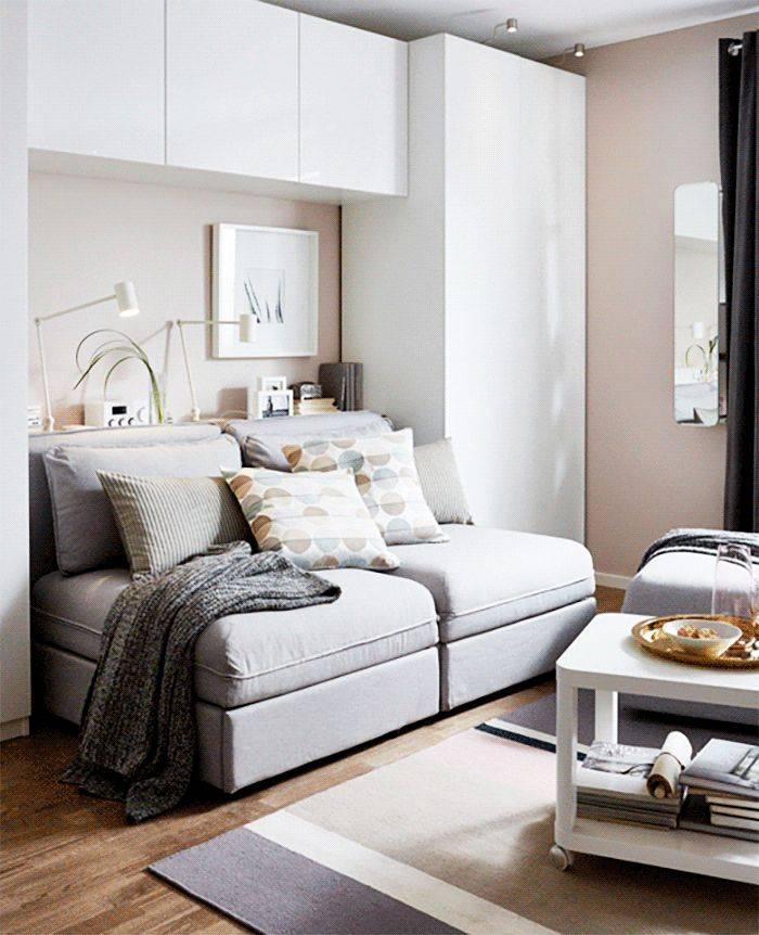 Как поставить диван и кровать в одной комнате? | домфронт