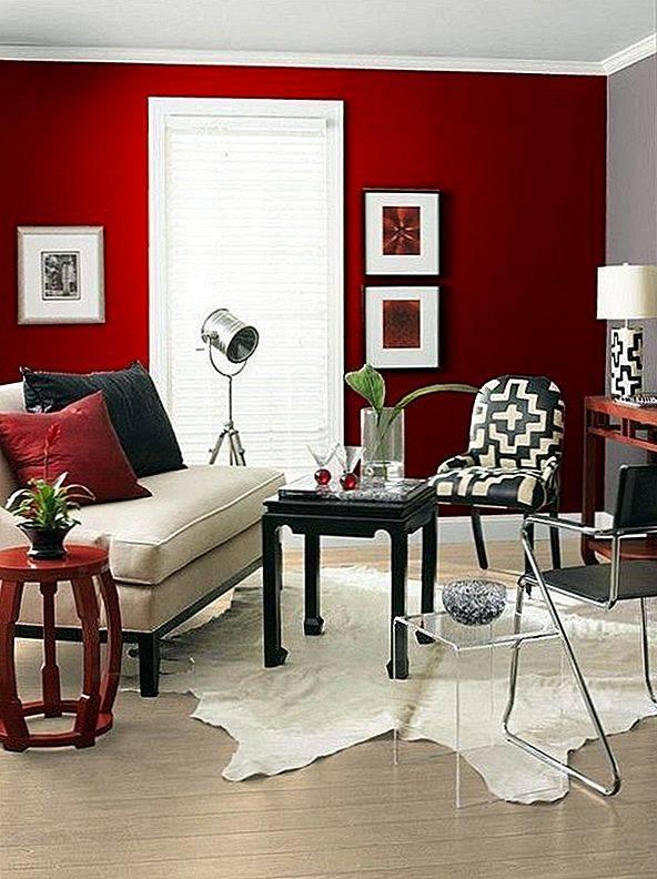 Стены красного цвета — 125 фото необычных идей оформления, тонкости и нюансы применения красного в дизайне