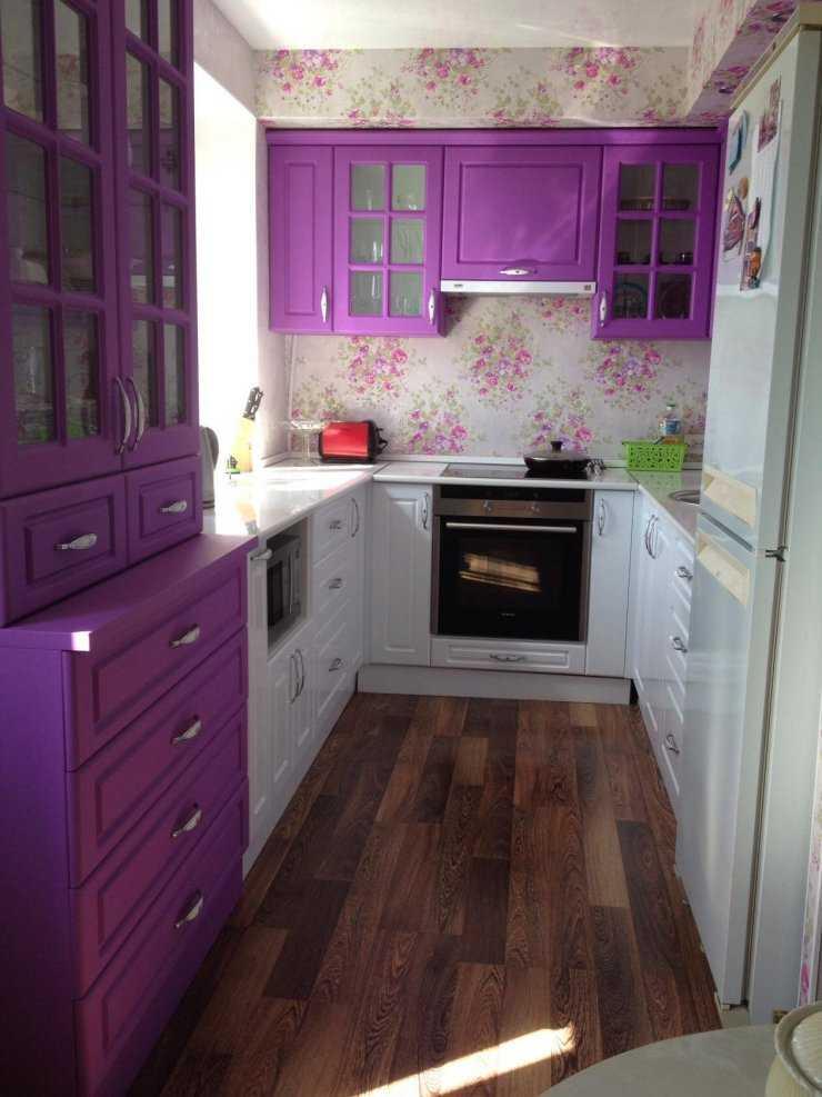 Дизайн кухни в фиолетовых тонах: что выполнить в фиолетовом, сочетания с другими цветами