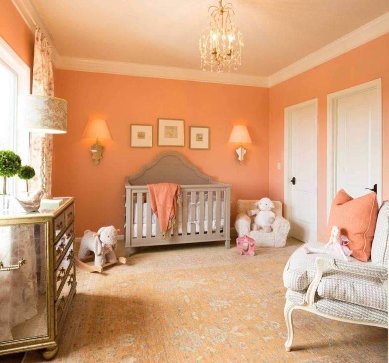 Персиковый цвет в интерьере и его сочетания +70 фото примеров