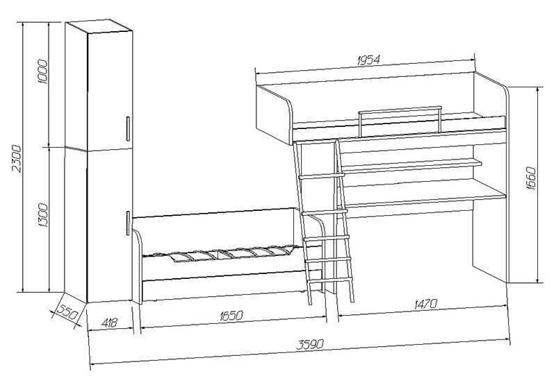 Дизайн спальни с детской кроваткой (75 фото) - варианты интерьеров