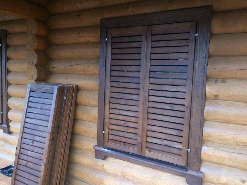 Ставни на окнах: 130+ (фото) металлических, деревянных (+отзывы)